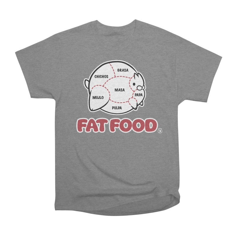 FAT FOOD Women's Heavyweight Unisex T-Shirt by Tripleta Studio Shop