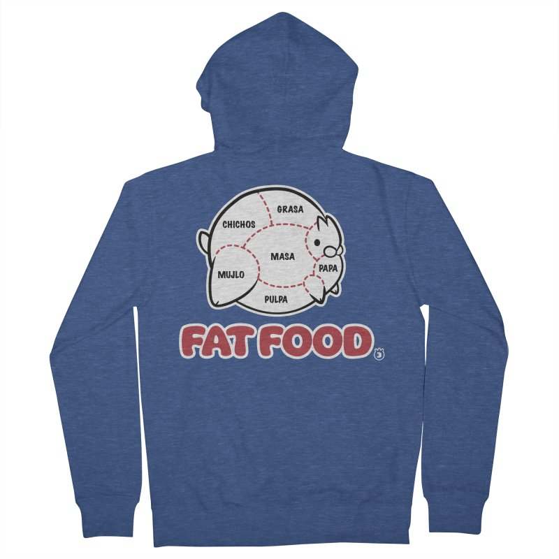 FAT FOOD Women's French Terry Zip-Up Hoody by Tripleta Gourmet Clothing