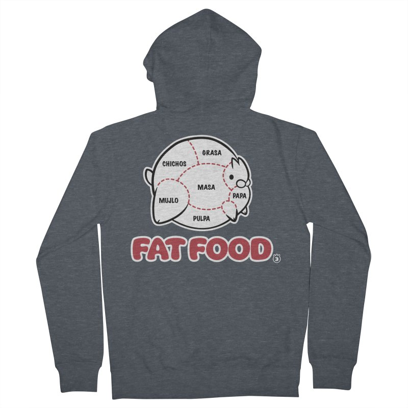 FAT FOOD Women's French Terry Zip-Up Hoody by Tripleta Studio Shop