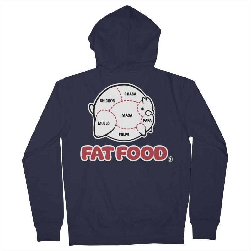 FAT FOOD Women's Zip-Up Hoody by Tripleta Gourmet Clothing