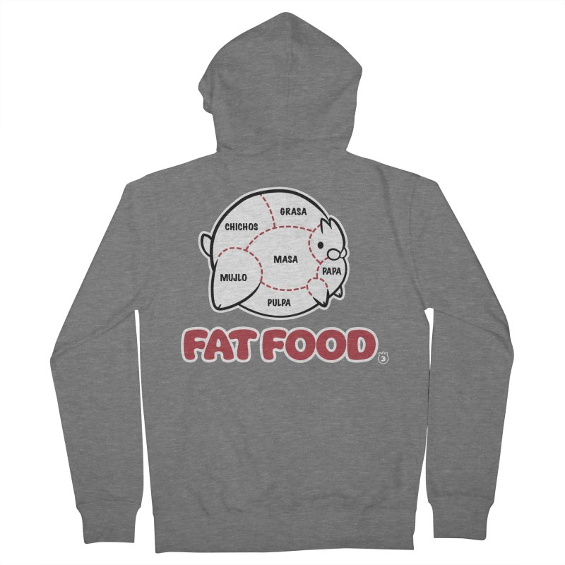FAT FOOD Men's French Terry Zip-Up Hoody by Tripleta Studio Shop