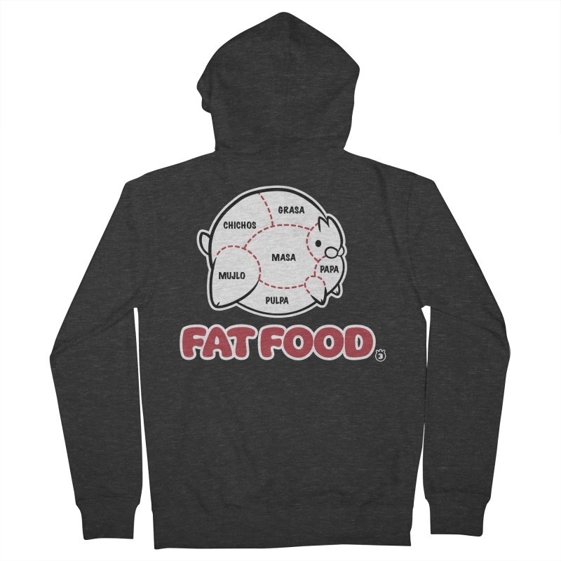 FAT FOOD Men's French Terry Zip-Up Hoody by Tripleta Gourmet Clothing