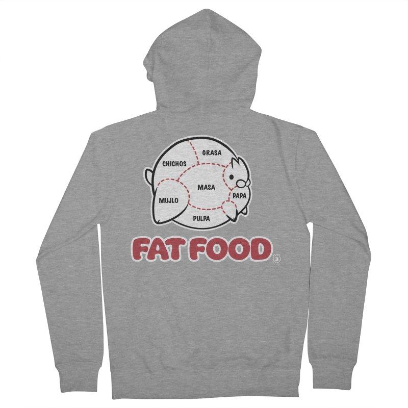 FAT FOOD Men's Zip-Up Hoody by Tripleta Gourmet Clothing
