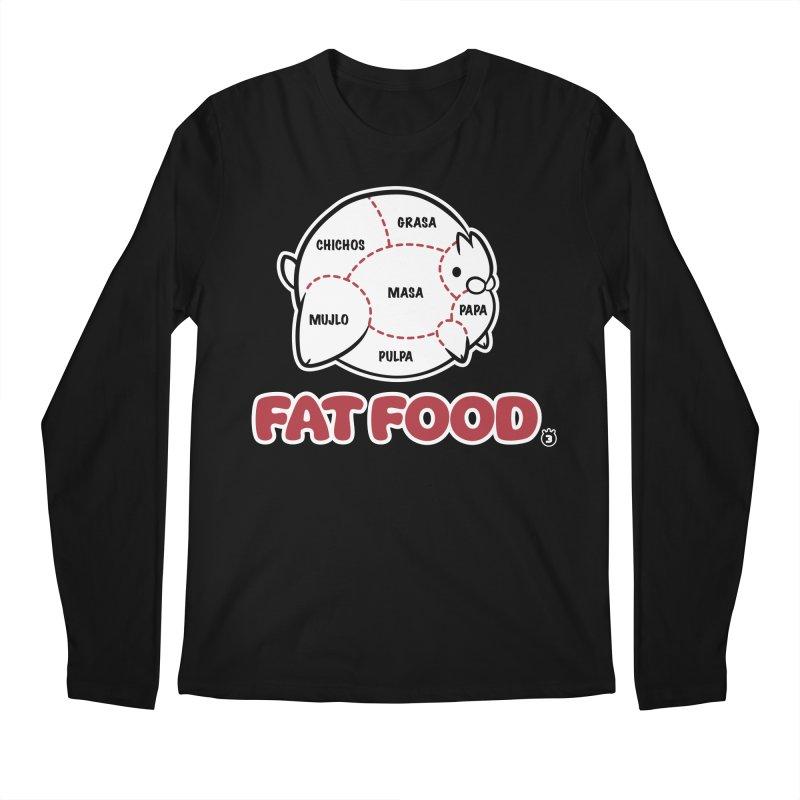 FAT FOOD Men's Longsleeve T-Shirt by Tripleta Gourmet Clothing
