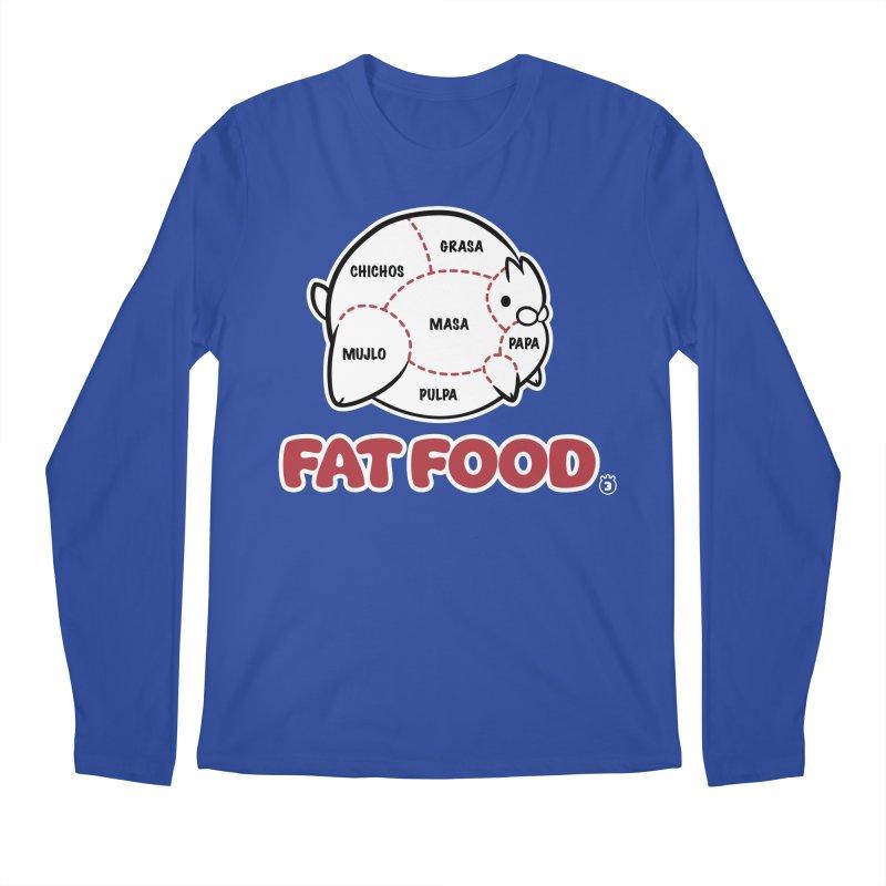 FAT FOOD Men's Regular Longsleeve T-Shirt by Tripleta Studio Shop