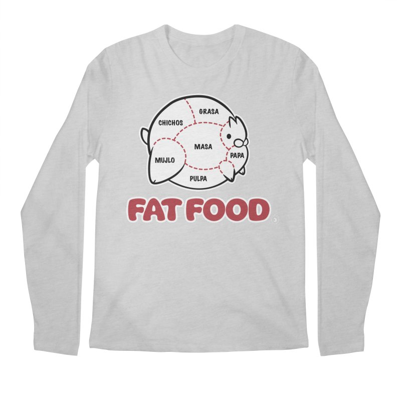 FAT FOOD Men's Regular Longsleeve T-Shirt by Tripleta Gourmet Clothing