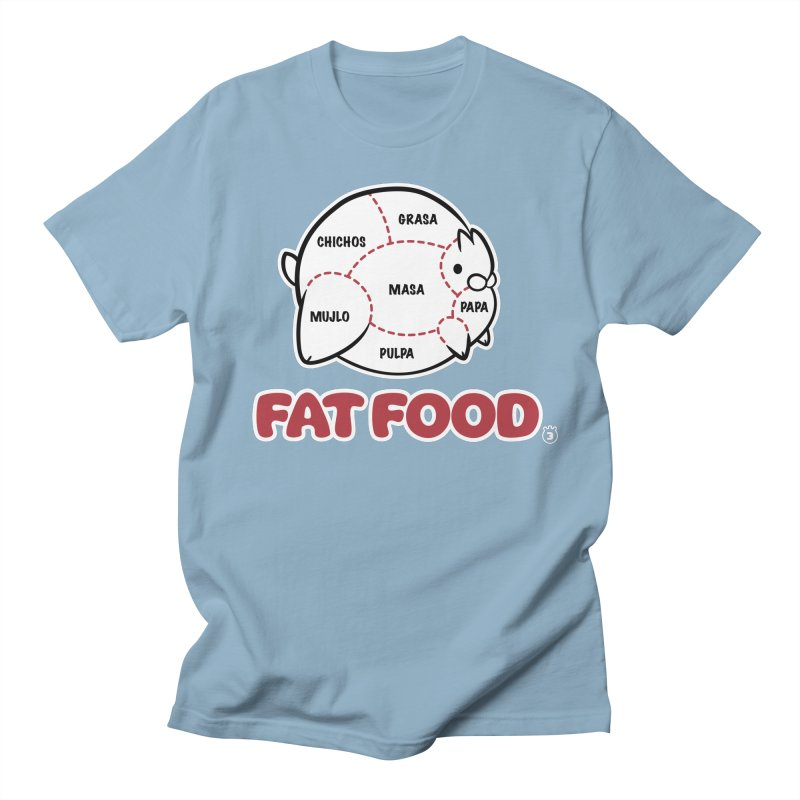 FAT FOOD Women's Regular Unisex T-Shirt by Tripleta Studio Shop