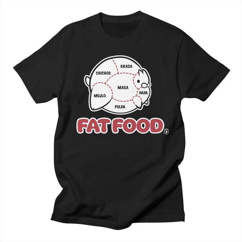 FAT FOOD Men's T-Shirt by Tripleta Gourmet Clothing