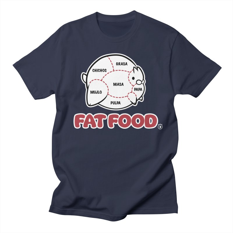 FAT FOOD Women's Unisex T-Shirt by Tripleta Gourmet Clothing