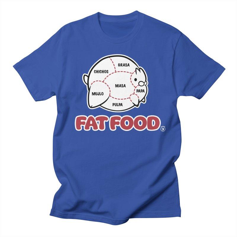 FAT FOOD Men's Regular T-Shirt by Tripleta Studio Shop