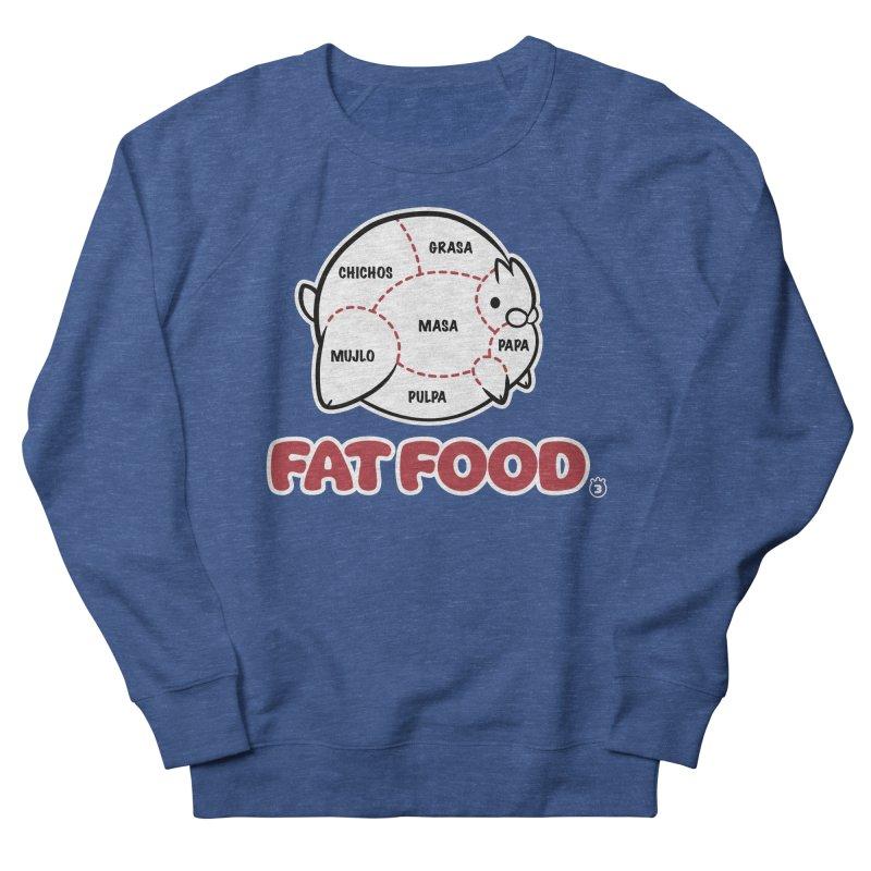 FAT FOOD Women's French Terry Sweatshirt by Tripleta Gourmet Clothing