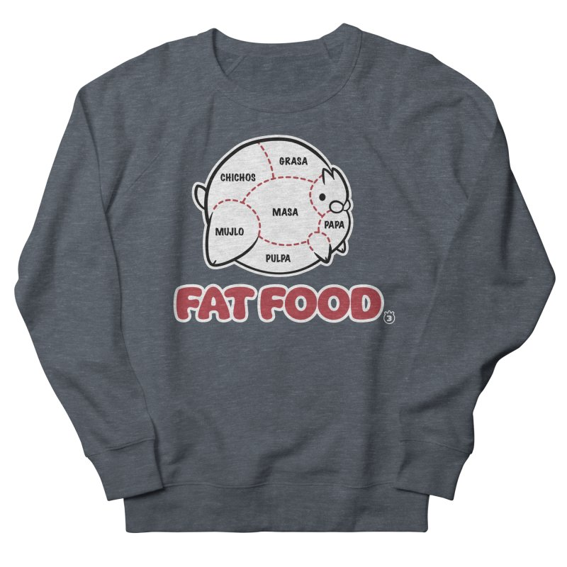 FAT FOOD Men's French Terry Sweatshirt by Tripleta Gourmet Clothing