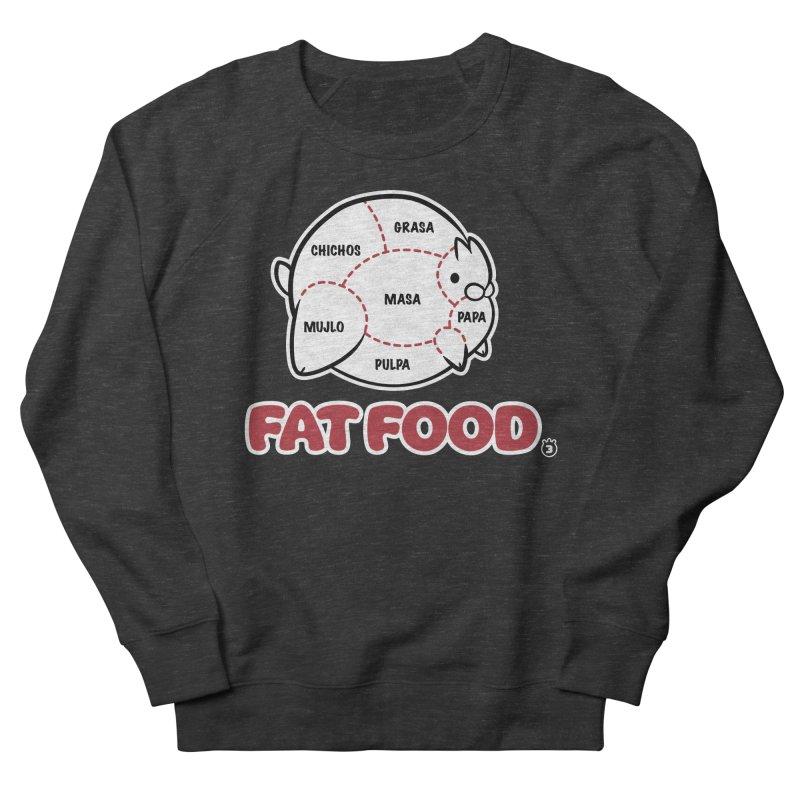 FAT FOOD Men's French Terry Sweatshirt by Tripleta Studio Shop