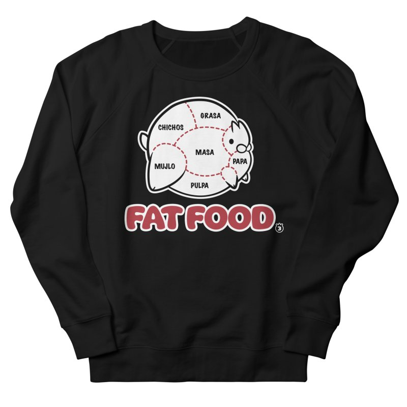 FAT FOOD Men's French Terry Sweatshirt by Tripleta Studio Shop