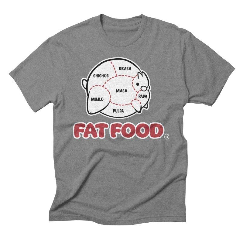 FAT FOOD Men's Triblend T-Shirt by Tripleta Gourmet Clothing