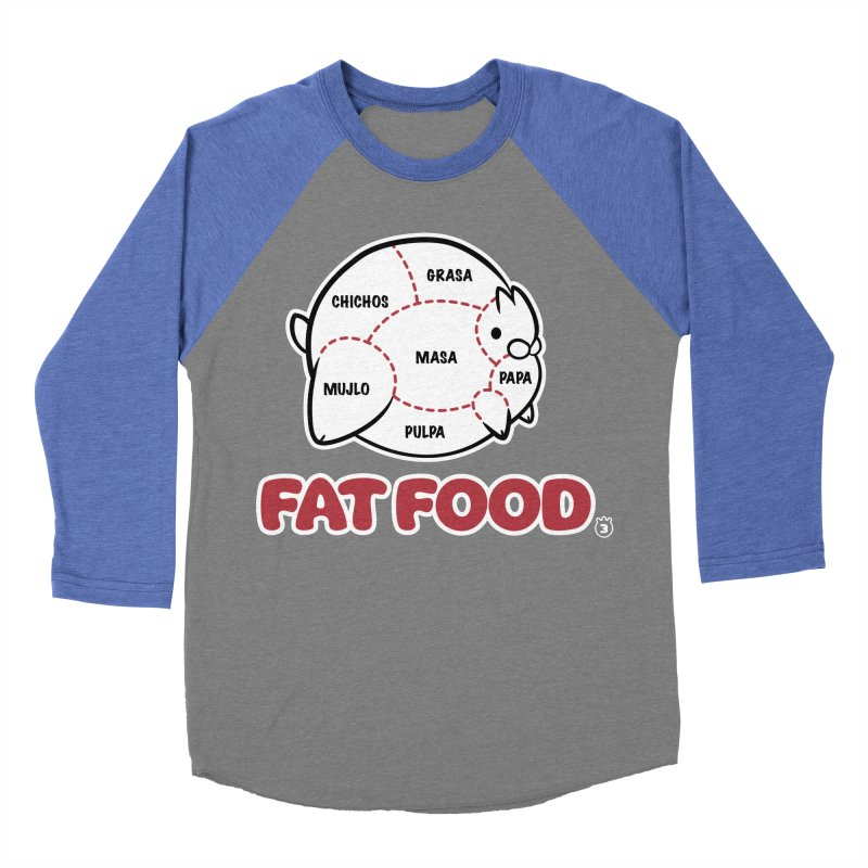 FAT FOOD Women's Baseball Triblend Longsleeve T-Shirt by Tripleta Gourmet Clothing