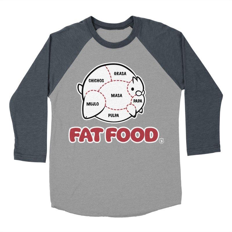 FAT FOOD Women's Baseball Triblend T-Shirt by Tripleta Gourmet Clothing