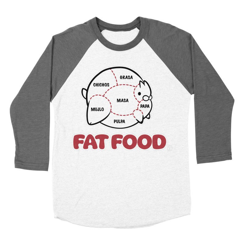FAT FOOD Men's Baseball Triblend Longsleeve T-Shirt by Tripleta Studio Shop