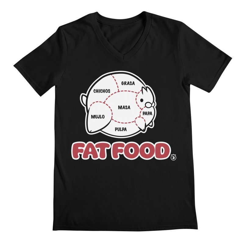 FAT FOOD Men's V-Neck by Tripleta Gourmet Clothing
