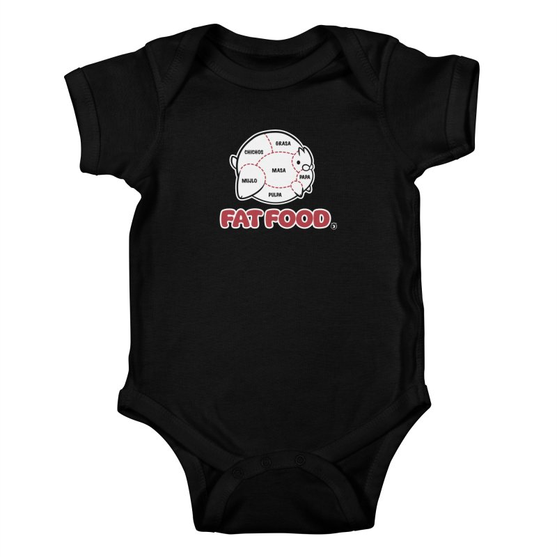 FAT FOOD Kids Baby Bodysuit by Tripleta Gourmet Clothing