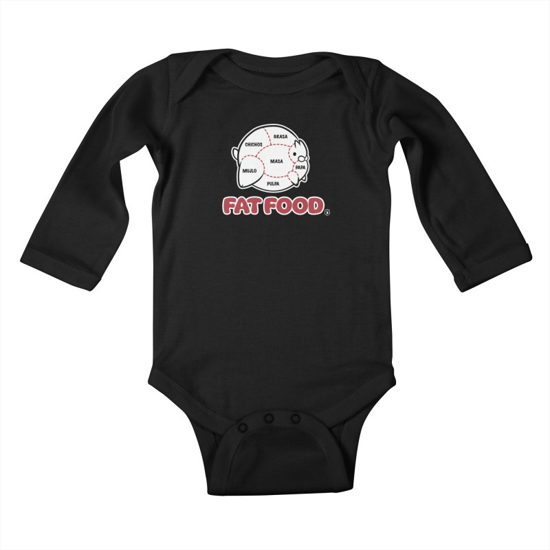 FAT FOOD Kids Baby Longsleeve Bodysuit by Tripleta Studio Shop