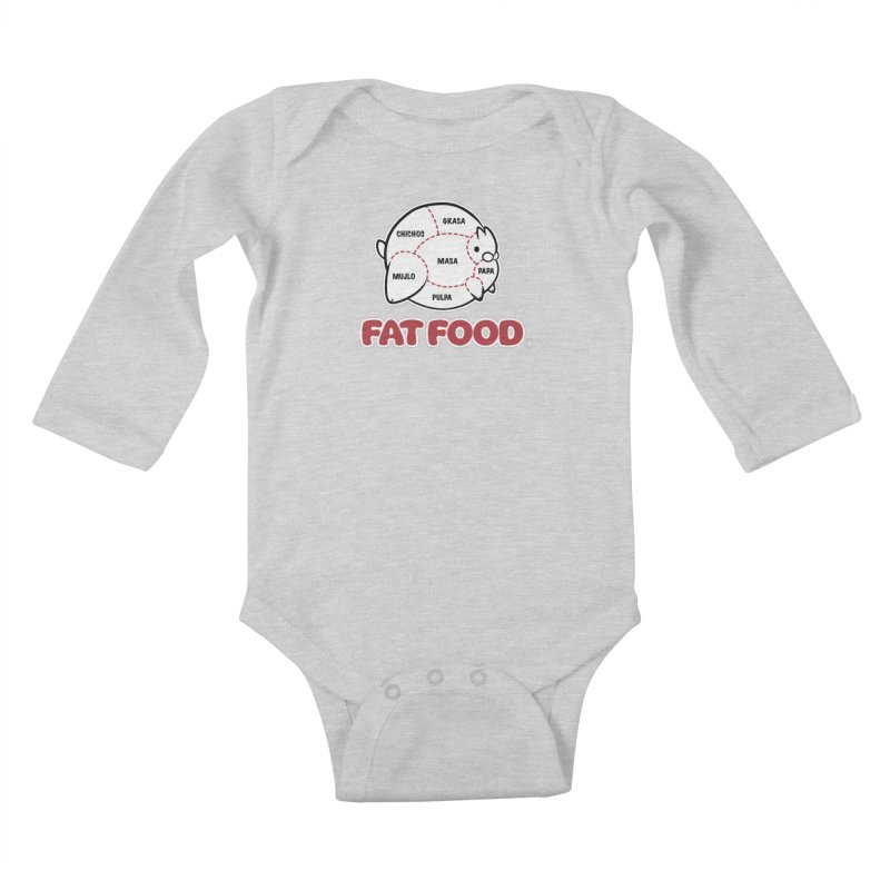 FAT FOOD Kids Baby Longsleeve Bodysuit by Tripleta Gourmet Clothing