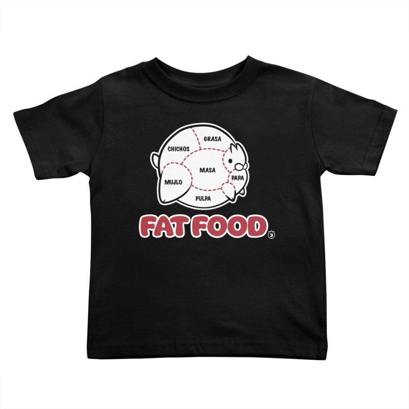 FAT FOOD Kids Toddler T-Shirt by Tripleta Studio Shop
