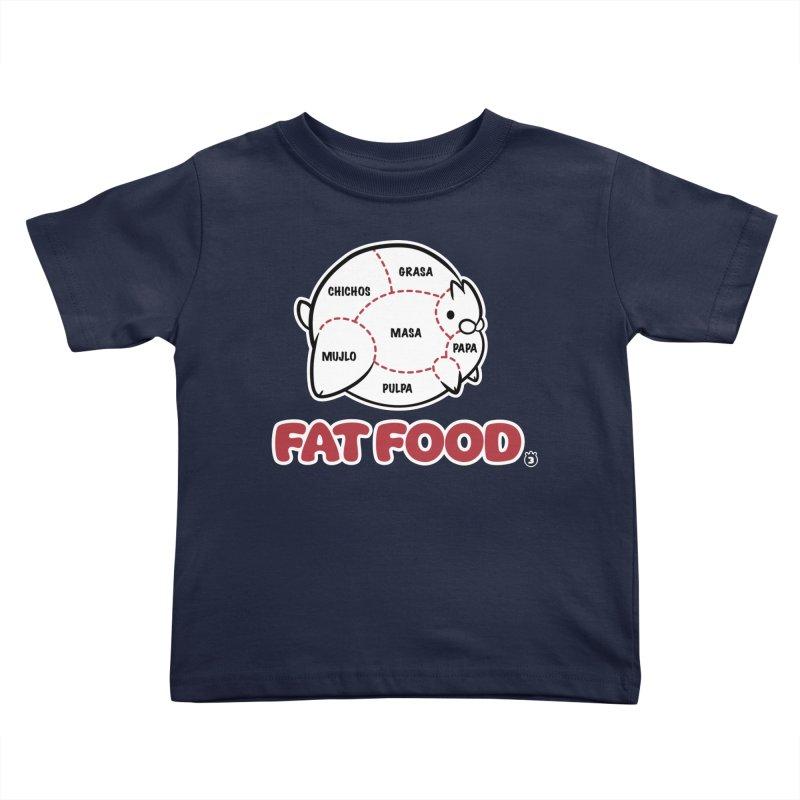 FAT FOOD Kids Toddler T-Shirt by Tripleta Gourmet Clothing