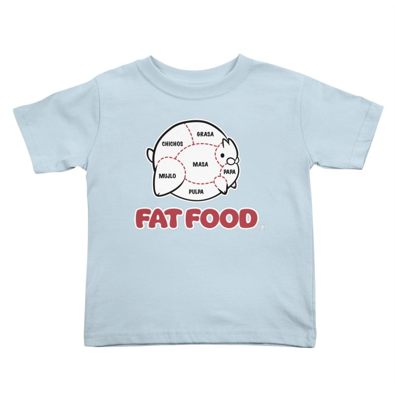 FAT FOOD Kids Toddler T-Shirt by Tripleta Gourmet Clothing