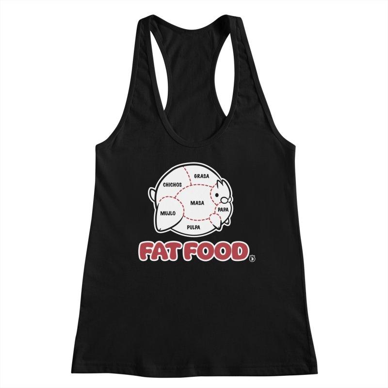 FAT FOOD Women's Racerback Tank by Tripleta Studio Shop
