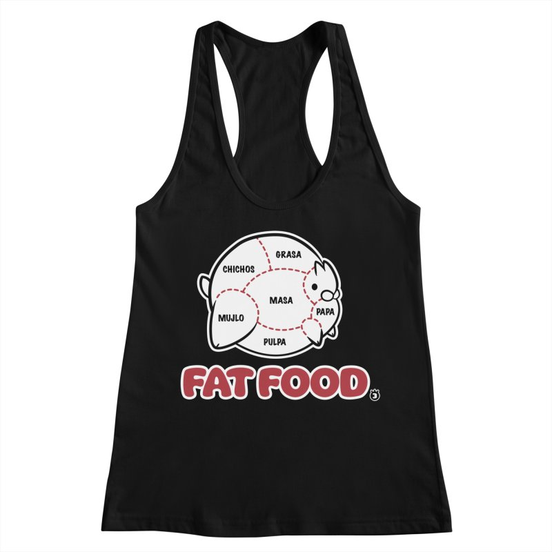 FAT FOOD Women's Racerback Tank by Tripleta Studio Shop