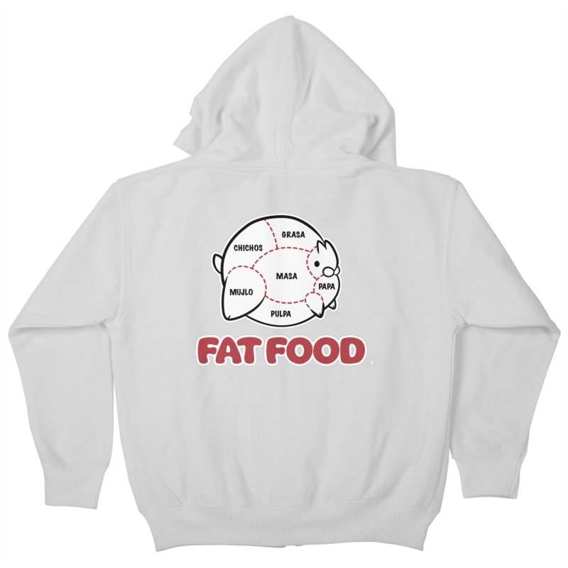 FAT FOOD Kids Zip-Up Hoody by Tripleta Gourmet Clothing
