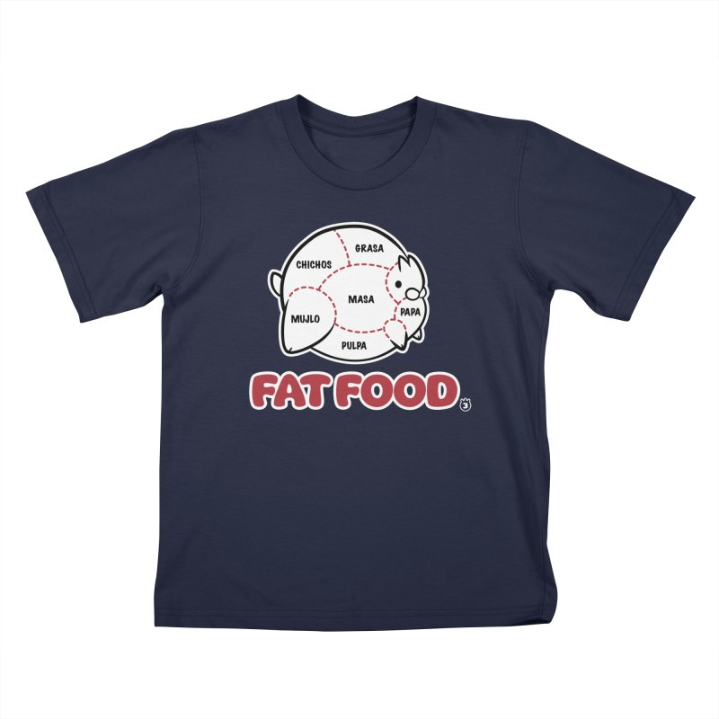 FAT FOOD Kids T-Shirt by Tripleta Gourmet Clothing