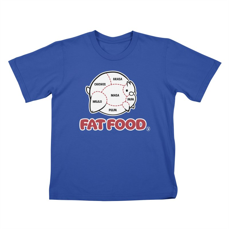 FAT FOOD Kids T-Shirt by Tripleta Studio Shop