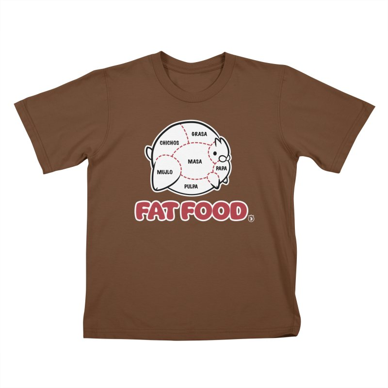 FAT FOOD Kids T-Shirt by Tripleta Gourmet Clothing
