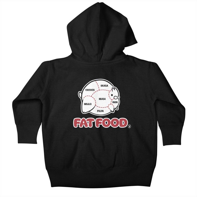 FAT FOOD Kids Baby Zip-Up Hoody by Tripleta Studio Shop