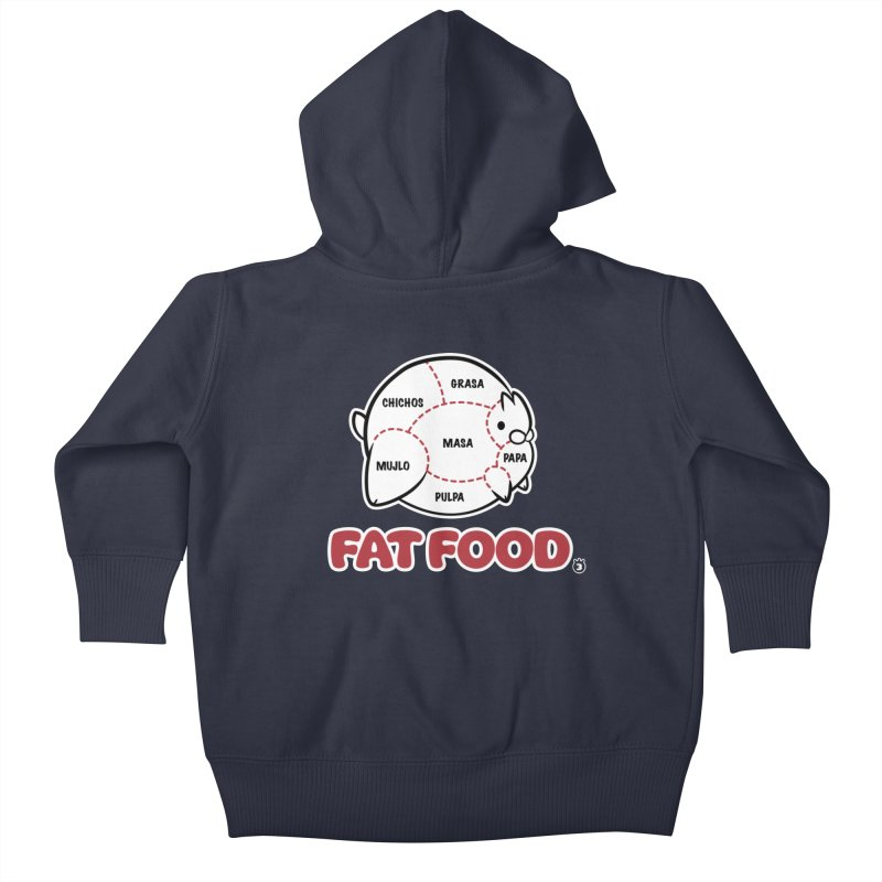 FAT FOOD Kids Baby Zip-Up Hoody by Tripleta Studio Shop