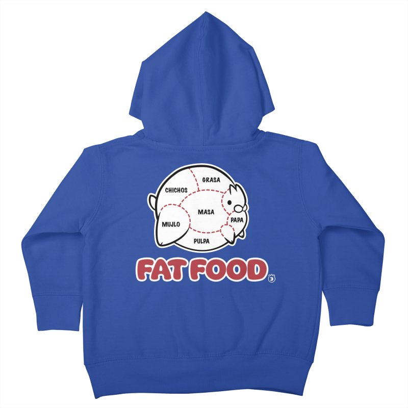 FAT FOOD Kids Toddler Zip-Up Hoody by Tripleta Gourmet Clothing