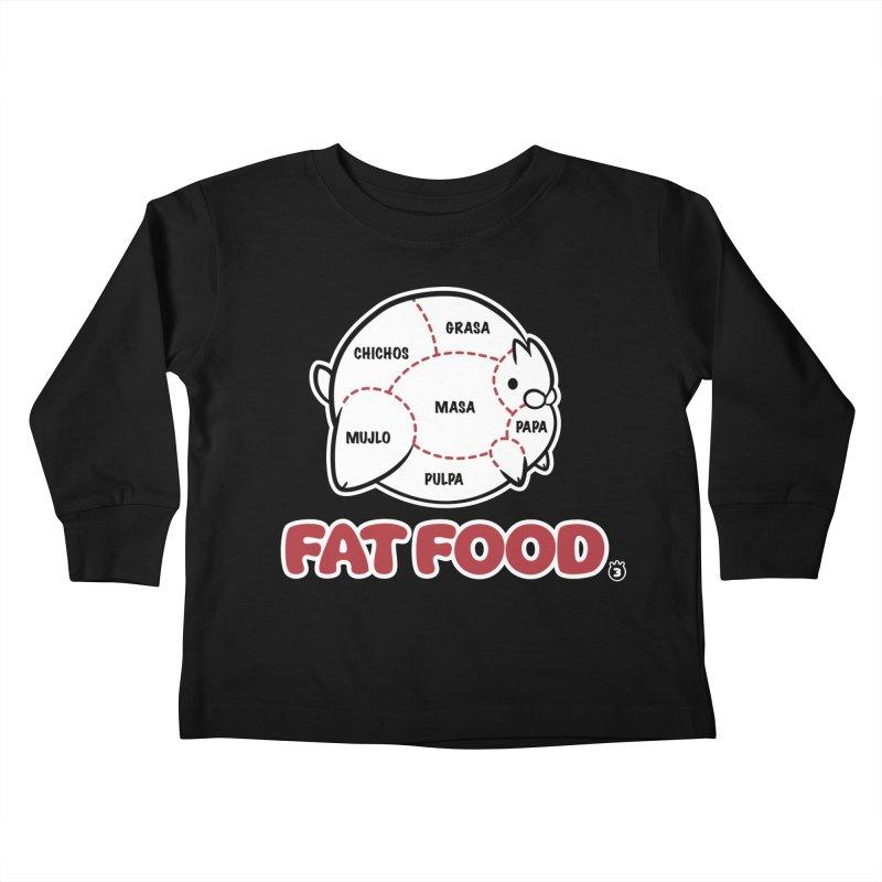 FAT FOOD Kids Toddler Longsleeve T-Shirt by Tripleta Studio Shop