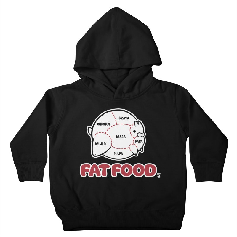 FAT FOOD Kids Toddler Pullover Hoody by Tripleta Studio Shop