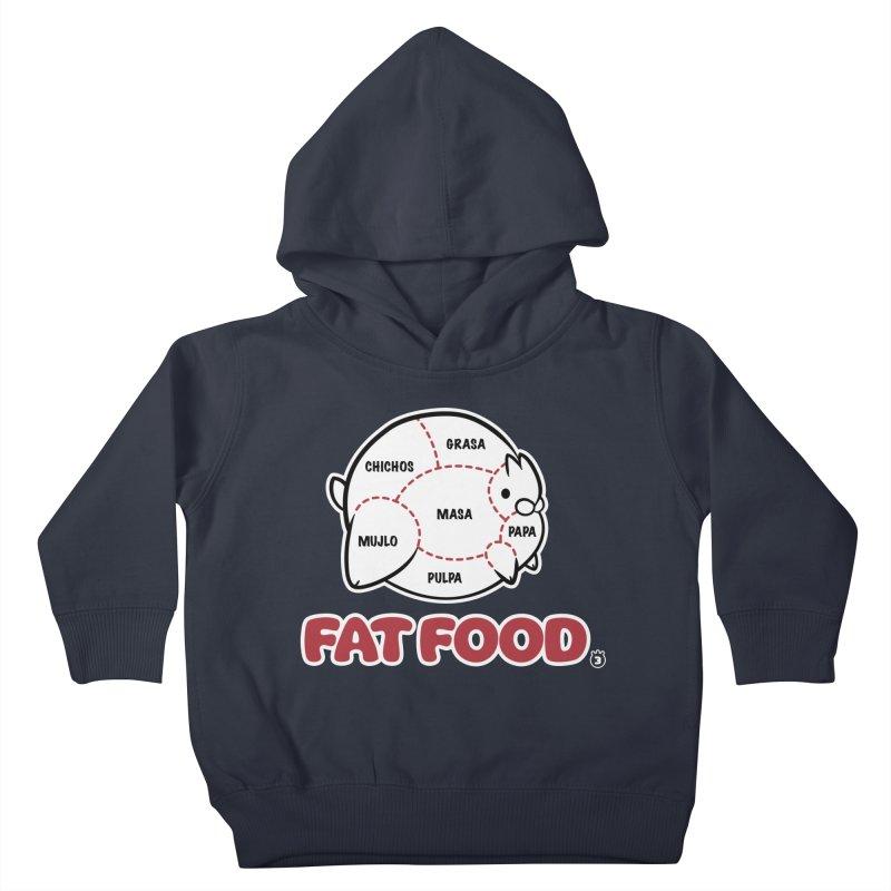 FAT FOOD Kids Toddler Pullover Hoody by Tripleta Gourmet Clothing