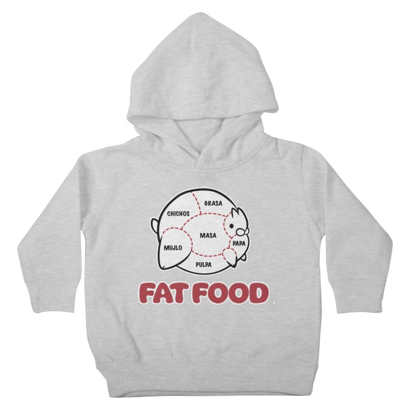 FAT FOOD Kids Toddler Pullover Hoody by Tripleta Gourmet Clothing