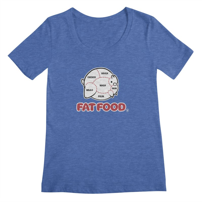 FAT FOOD Women's Regular Scoop Neck by Tripleta Gourmet Clothing
