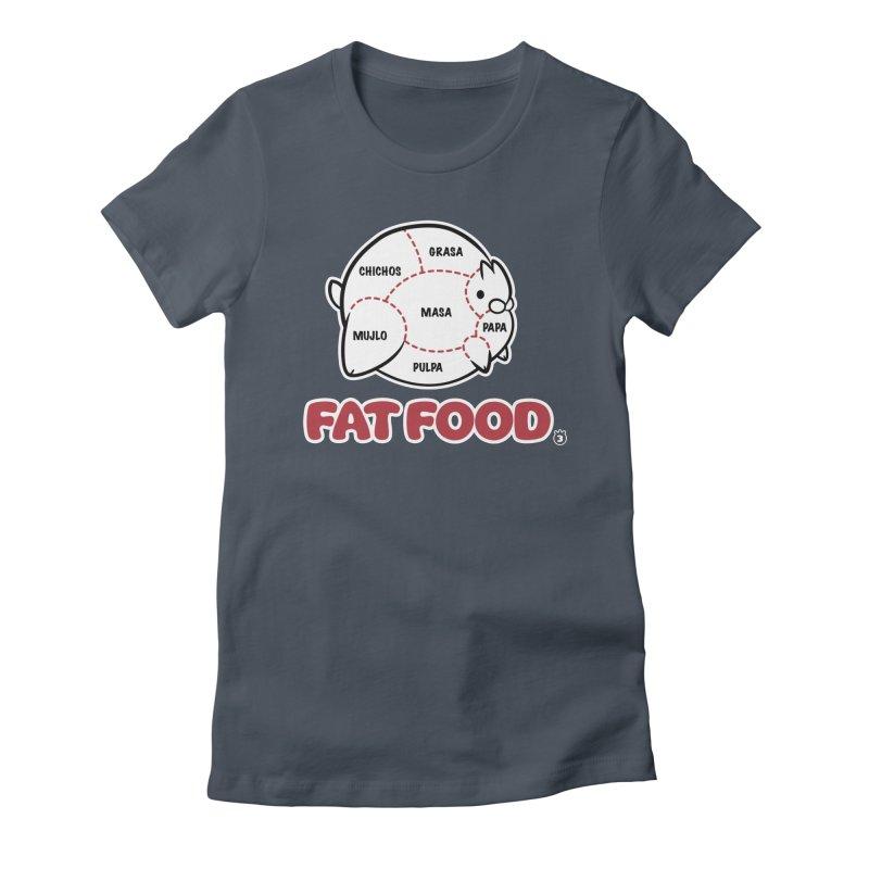 FAT FOOD Women's T-Shirt by Tripleta Studio Shop