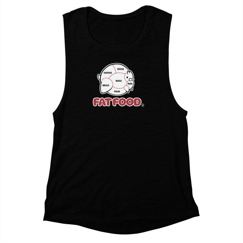 FAT FOOD Women's Muscle Tank by Tripleta Gourmet Clothing