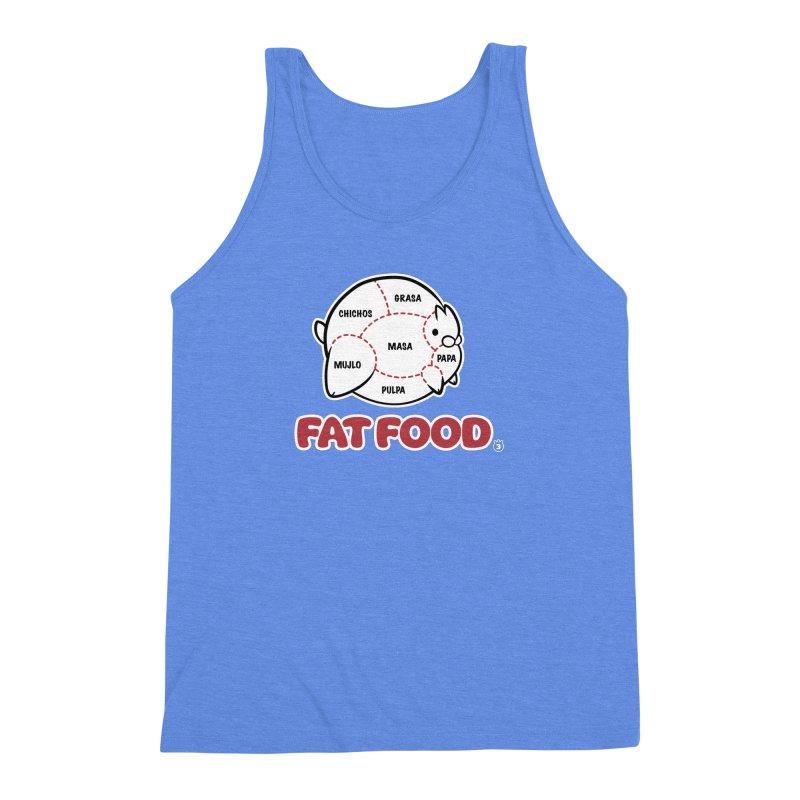 FAT FOOD Men's Triblend Tank by Tripleta Gourmet Clothing