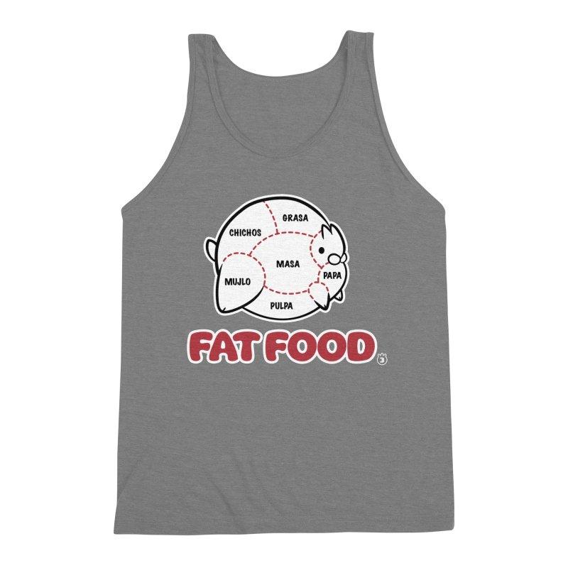 FAT FOOD Men's Triblend Tank by Tripleta Studio Shop