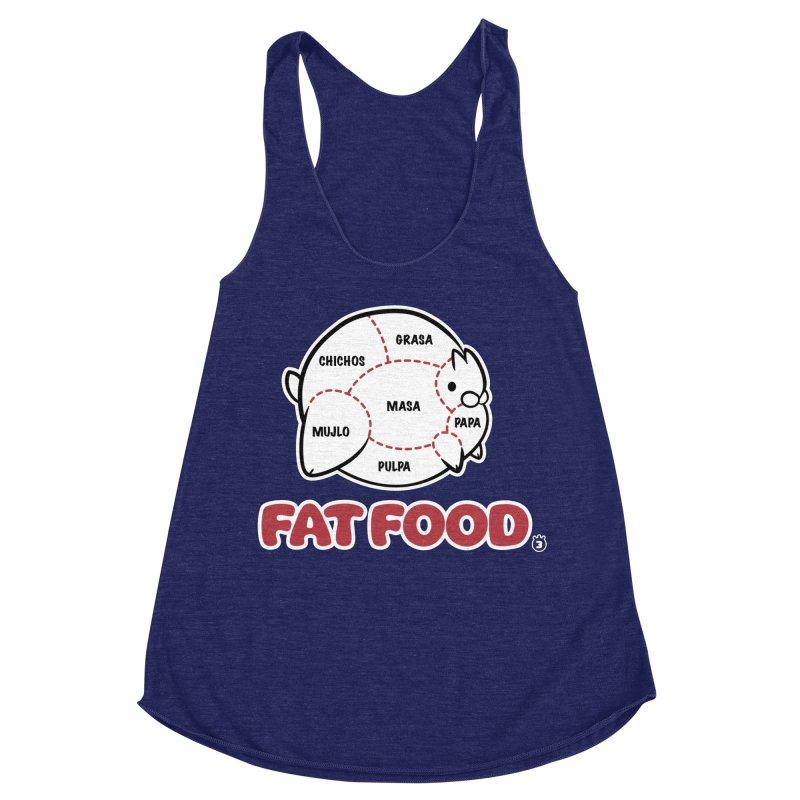 FAT FOOD Women's Racerback Triblend Tank by Tripleta Studio Shop