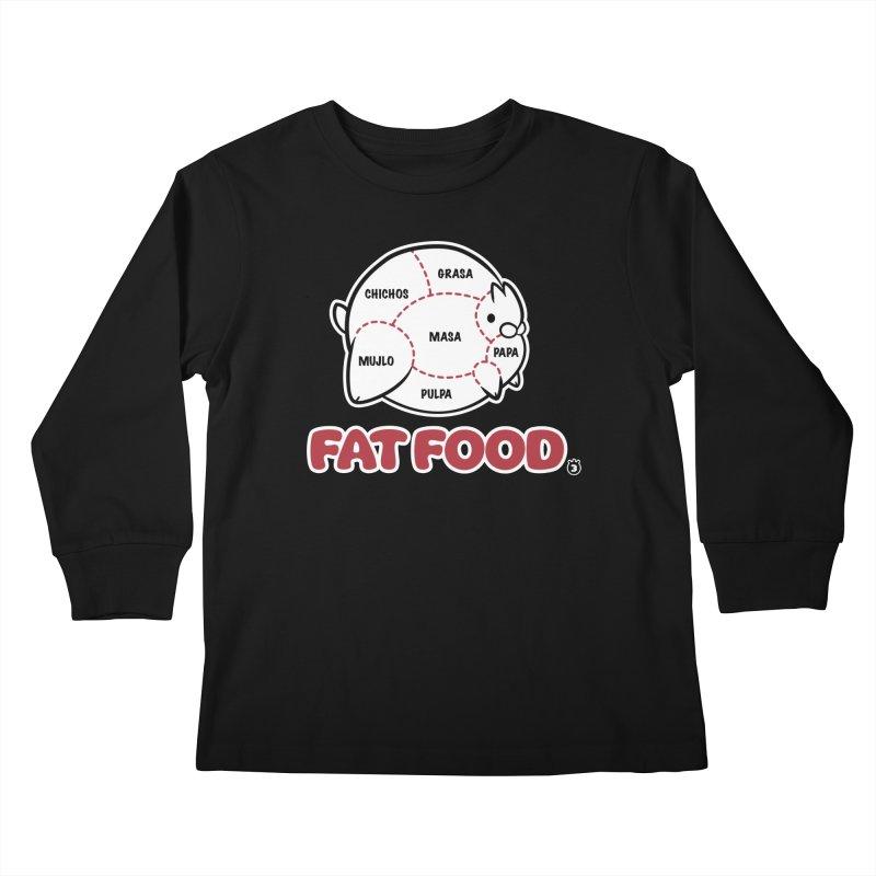 FAT FOOD Kids Longsleeve T-Shirt by Tripleta Studio Shop