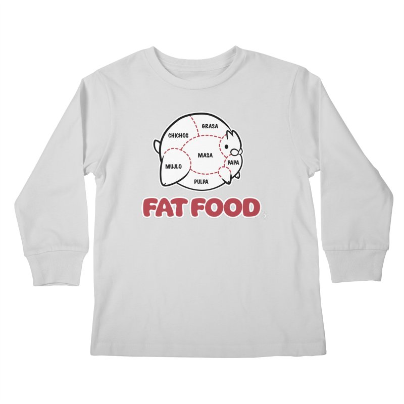 FAT FOOD Kids Longsleeve T-Shirt by Tripleta Studio Shop